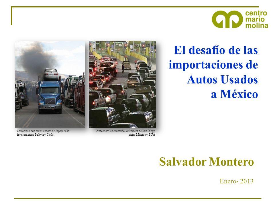 El mercado mundial de autos usados tiene severos impactos ambientales Siberia, Rusia Mercado de autos usados con Europa occidental Camiones con autos usados de Japón en la frontera entre Bolivia y Chile Cd.