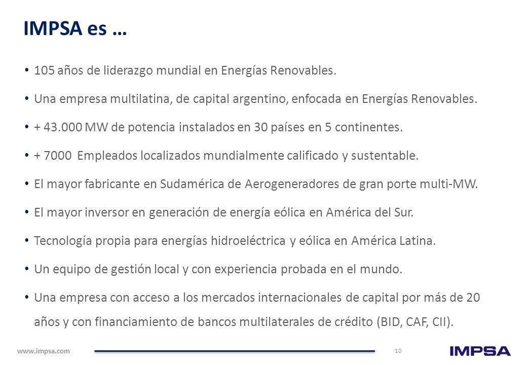 www.impsa.com Reseña Corporativa