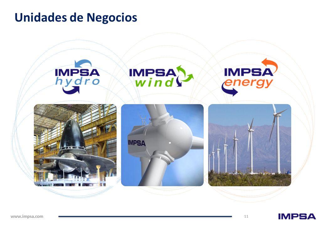 www.impsa.com 105 años de liderazgo mundial en Energías Renovables. Una empresa multilatina, de capital argentino, enfocada en Energías Renovables. +