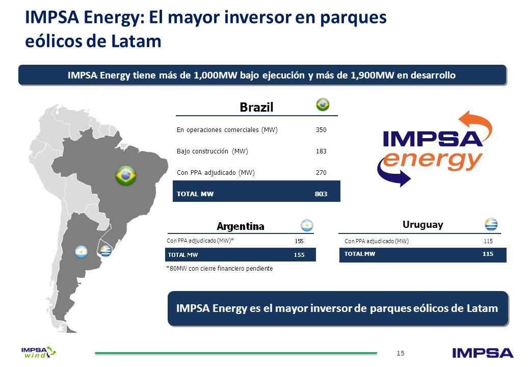 Líderes en Latinoamérica Fabricante líder en América del Sur de generadores eólicos Diseña, fabrica e instala generadores de energía eólica y equipami