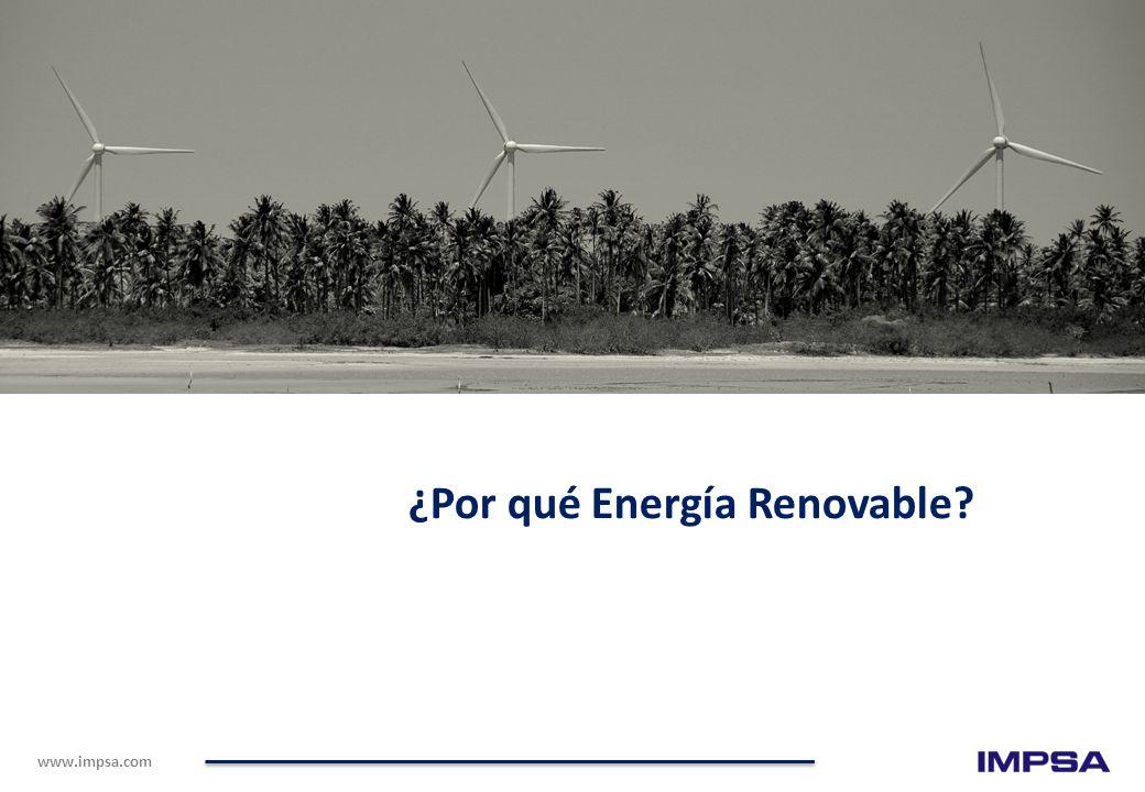 www.impsa.com ¿Por qué Energía Renovable?