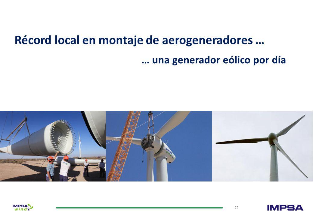 Amplia red de Servicios de Montaje y O&M Destacados Centros de Servicios de O&M 26 Servicios integrales de O&M de parques eólicos Montaje de aerogener