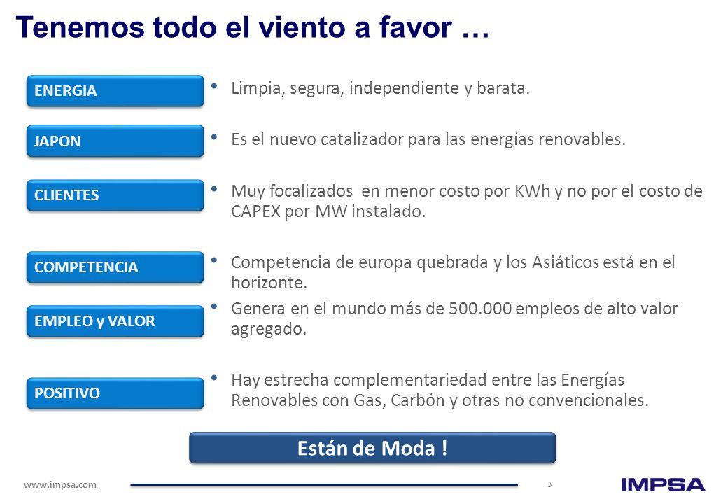 www.impsa.com 33 … Creando Soluciones Totales Agua Doce 33