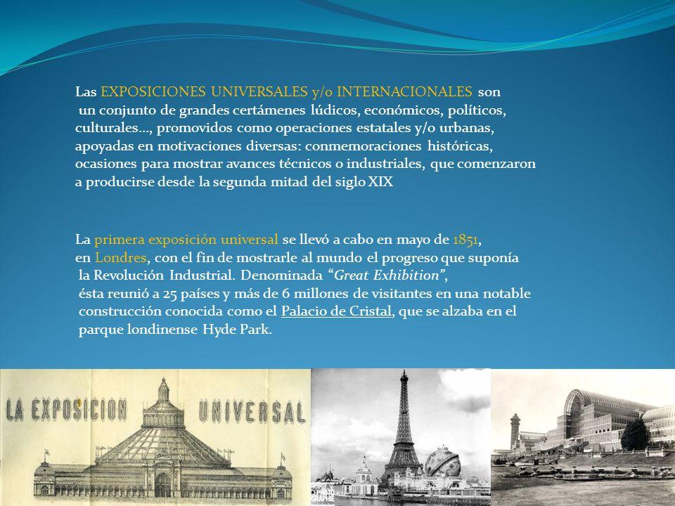 París decidió organizar su primera exposición universal en 1855, en los Campos Elíseos.