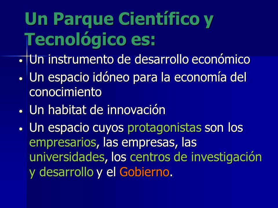un Parque Científico y Tecnológico impulsa la creación y el crecimiento de empresas innovadoras mediante mecanismos de incubación y de generación cent