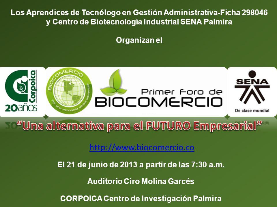 Los Aprendices de Tecnólogo en Gestión Administrativa-Ficha 298046 y Centro de Biotecnología Industrial SENA Palmira Organizan el El 21 de junio de 20