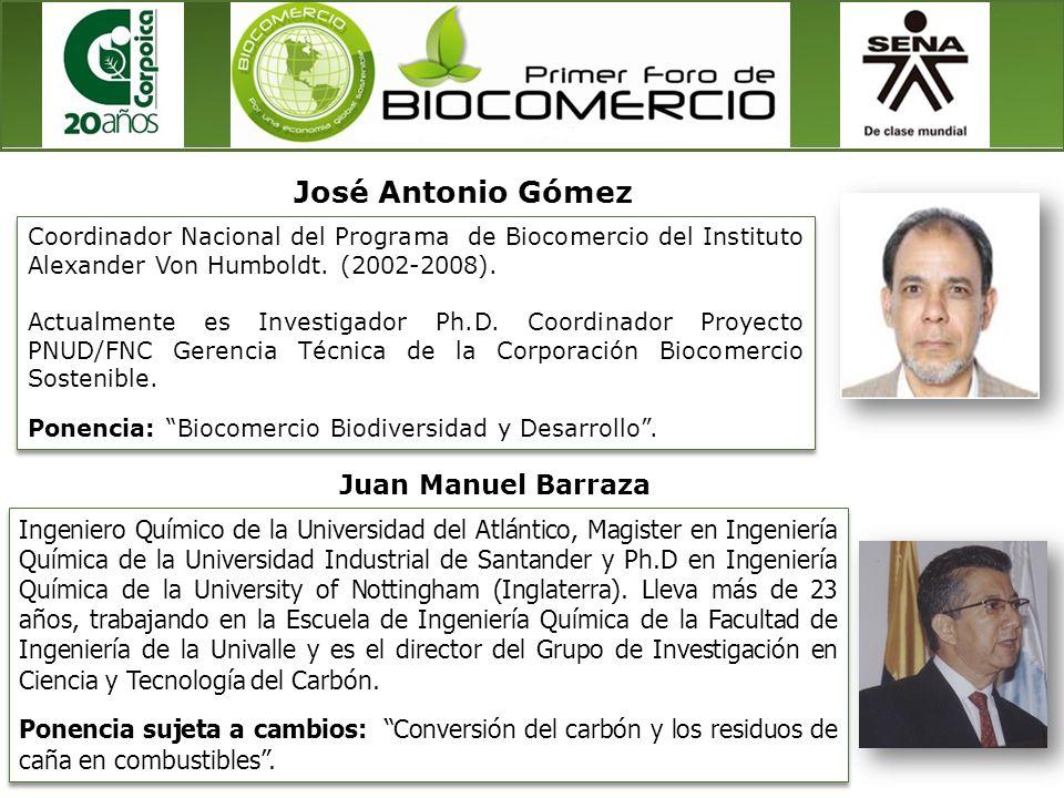 Coordinador Nacional del Programa de Biocomercio del Instituto Alexander Von Humboldt. (2002-2008). Actualmente es Investigador Ph.D. Coordinador Proy