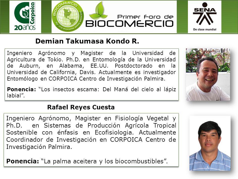 Ingeniero Agrónomo y Magister de la Universidad de Agricultura de Tokio. Ph.D. en Entomología de la Universidad de Auburn, en Alabama, EE.UU. Postdoct