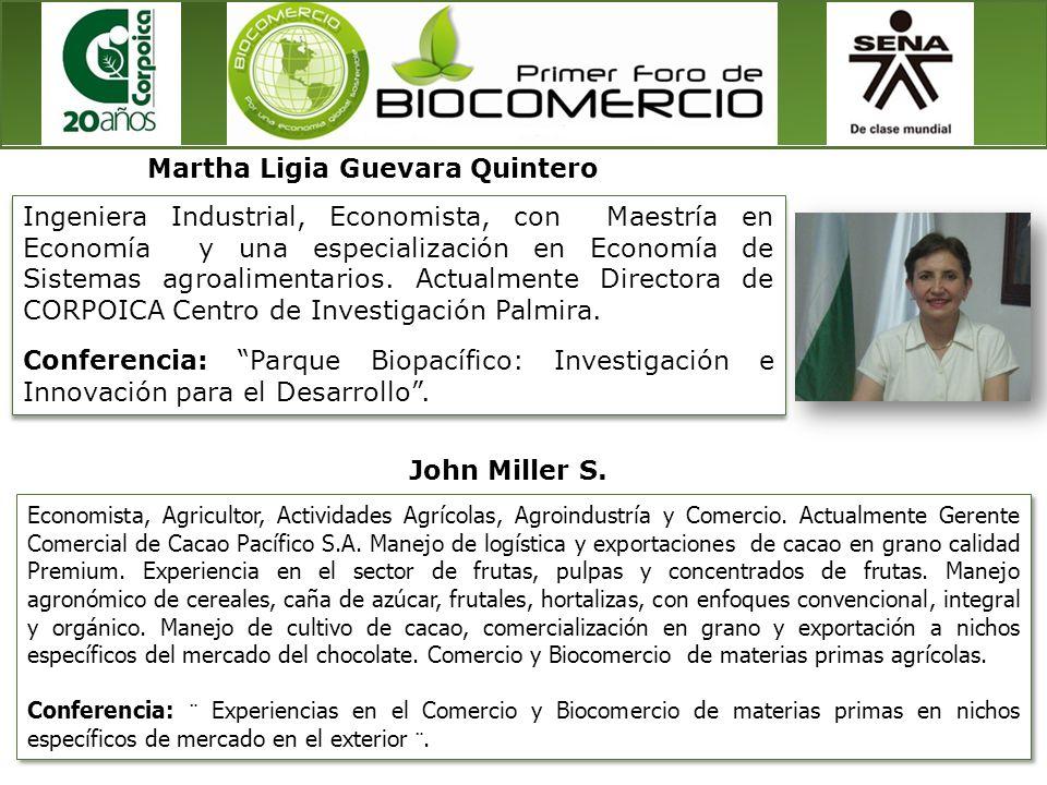 Ingeniera Industrial, Economista, con Maestría en Economía y una especialización en Economía de Sistemas agroalimentarios. Actualmente Directora de CO