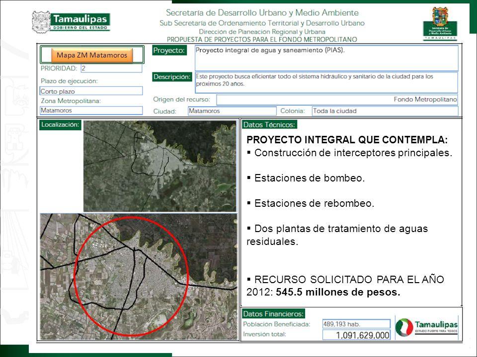 2. IMAGEN OBJETIVO Regresar PROYECTO INTEGRAL QUE CONTEMPLA: Construcción de interceptores principales. Estaciones de bombeo. Estaciones de rebombeo.