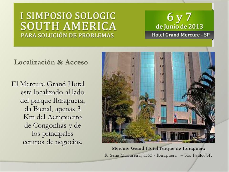 Localización & Acceso El Mercure Grand Hotel está localizado al lado del parque Ibirapuera, da Bienal, apenas 3 Km del Aeropuerto de Congonhas y de los principales centros de negocios.
