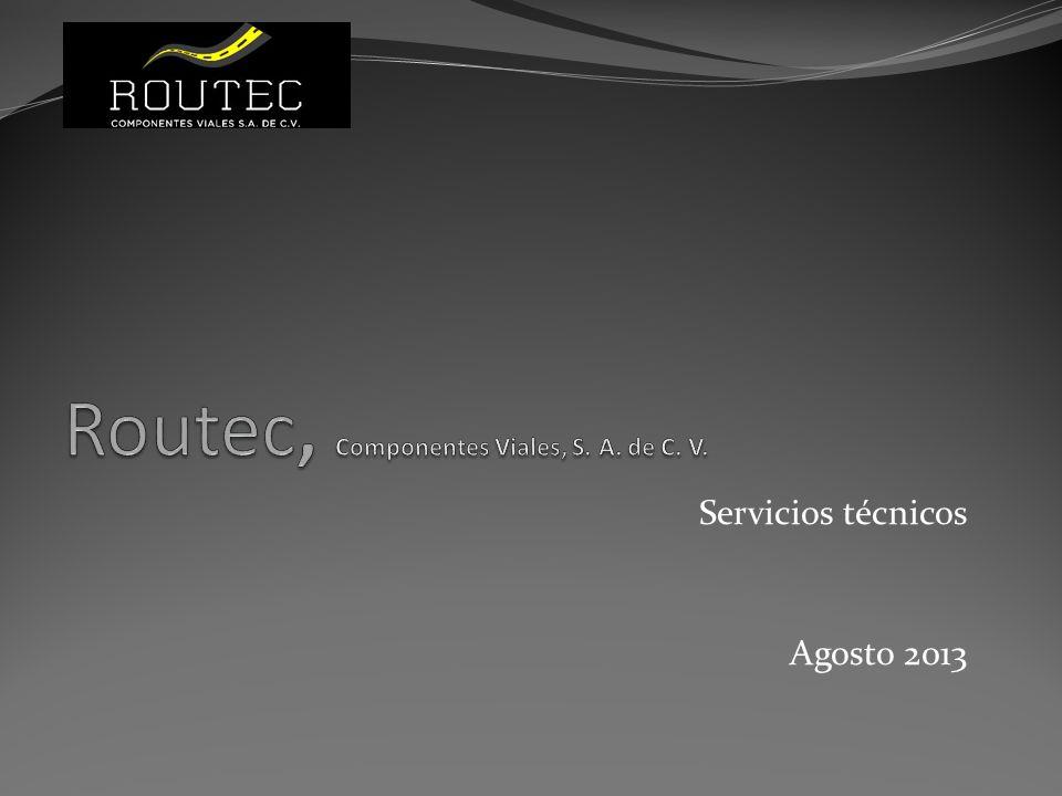 Empresa Routec es una empresa comercializadora de componentes para vialidades Diseña sistemas de operación de autopistas Realiza proyectos ejecutivos de ITS y de instalaciones de peaje Instala y mantiene sistemas de peaje, ITS y de auditoría de peaje El grupo cuenta con más de veinte años de experiencia en el ramo