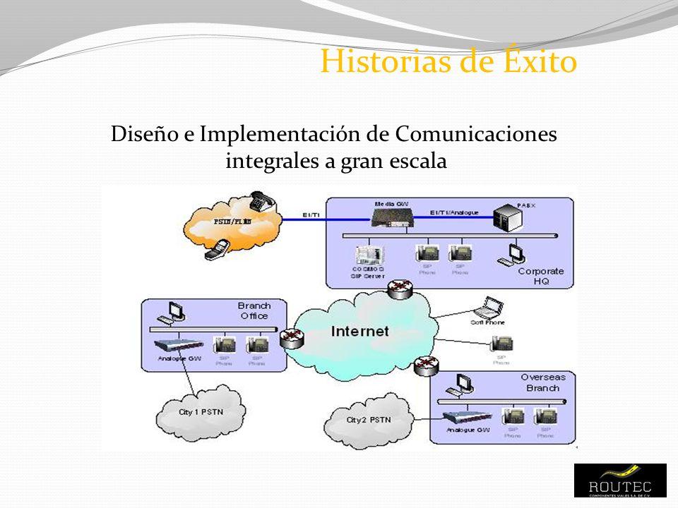 Diseño e Implementación de Comunicaciones integrales a gran escala Historias de Éxito