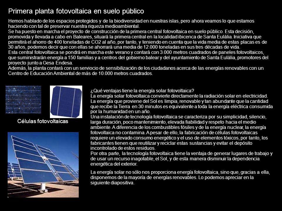 Primera planta fotovoltaica en suelo público Hemos hablado de los espacios protegidos y de la biodiversidad en nuestras islas, pero ahora veamos lo qu