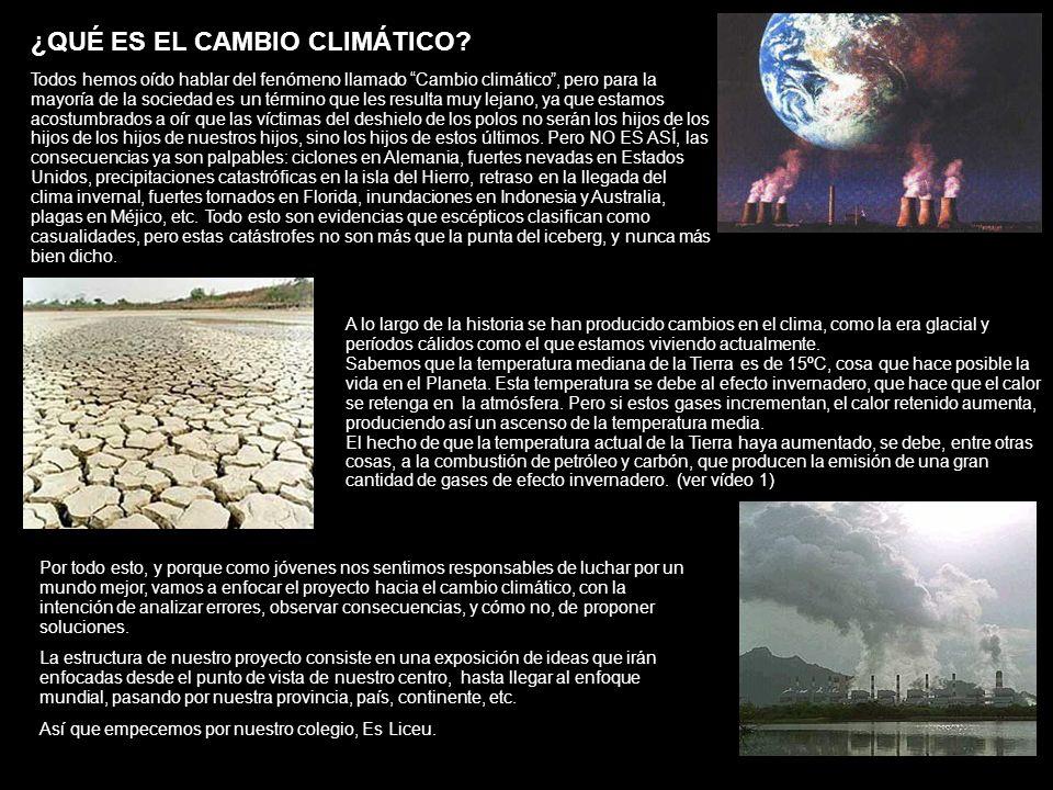 A lo largo de la historia se han producido cambios en el clima, como la era glacial y períodos cálidos como el que estamos viviendo actualmente. Sabem
