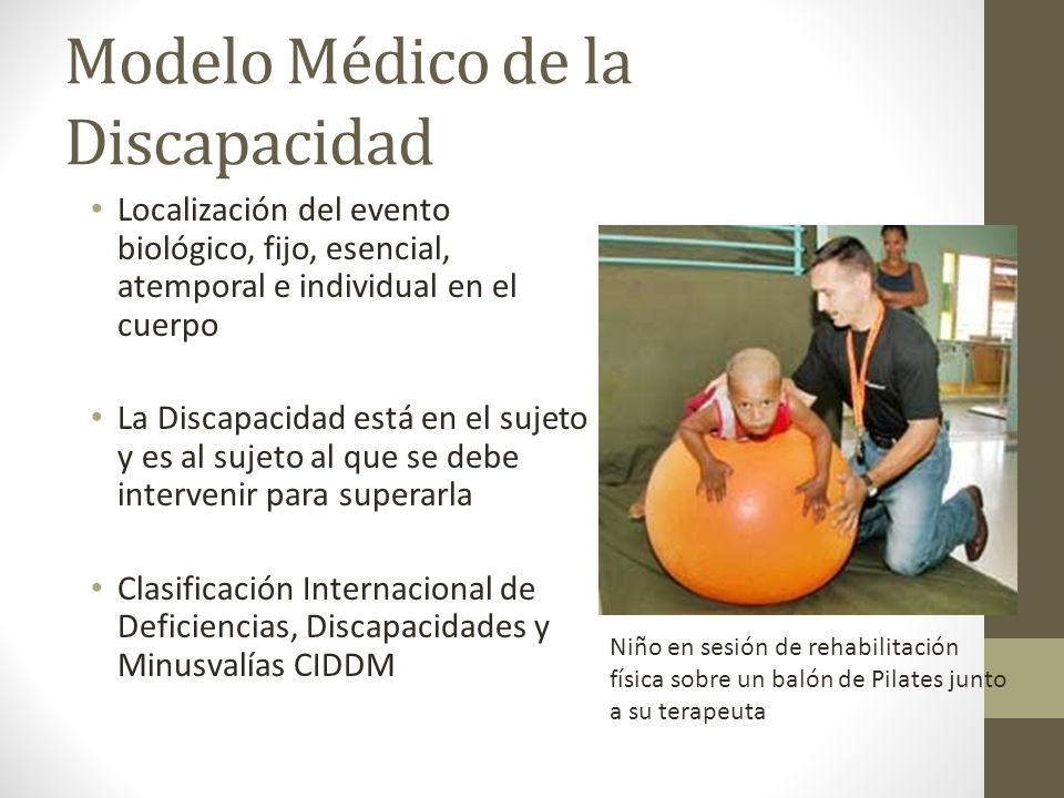 Modelo Médico de la Discapacidad Localización del evento biológico, fijo, esencial, atemporal e individual en el cuerpo La Discapacidad está en el suj