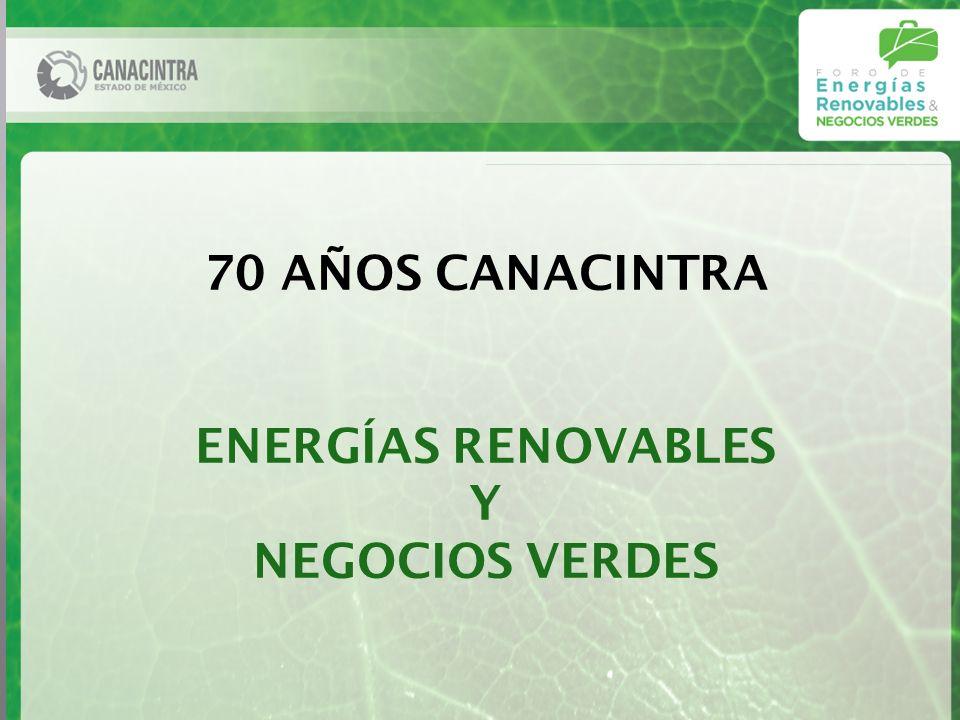 70 AÑOS CANACINTRA ENERGÍAS RENOVABLES Y NEGOCIOS VERDES