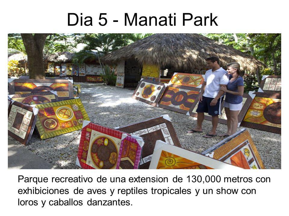 Dia 5 - Manati Park Parque recreativo de una extension de 130,000 metros con exhibiciones de aves y reptiles tropicales y un show con loros y caballos danzantes.
