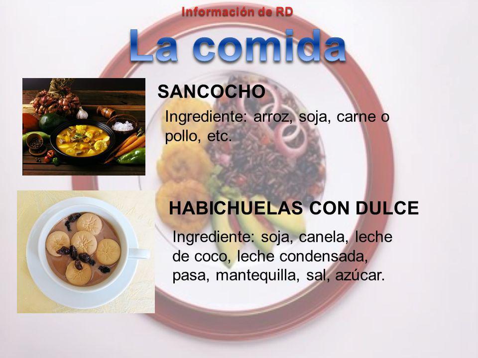 HABICHUELAS CON DULCE SANCOCHO Ingrediente: soja, canela, leche de coco, leche condensada, pasa, mantequilla, sal, azúcar.