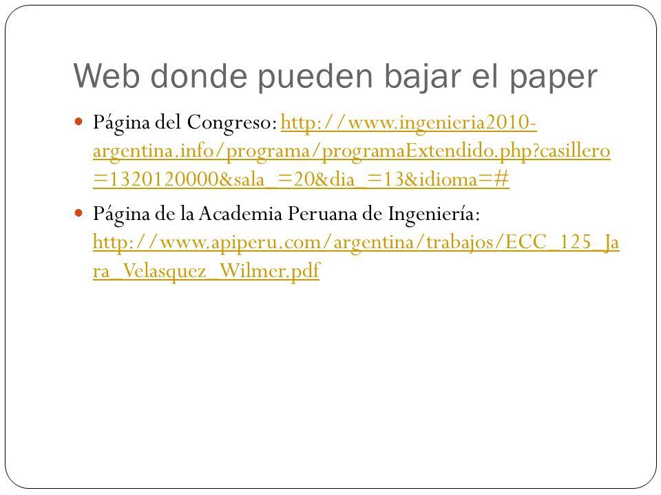 Página del Congreso: http://www.ingenieria2010- argentina.info/programa/programaExtendido.php?casillero =1320120000&sala_=20&dia_=13&idioma=#http://ww