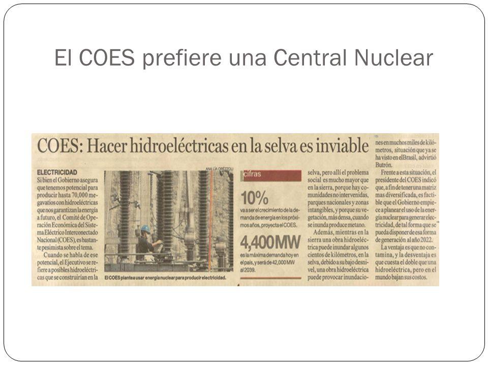 El COES prefiere una Central Nuclear