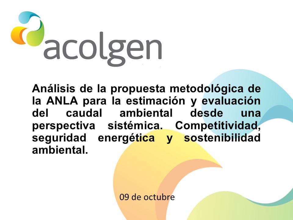 Análisis de la propuesta metodológica de la ANLA para la estimación y evaluación del caudal ambiental desde una perspectiva sistémica. Competitividad,