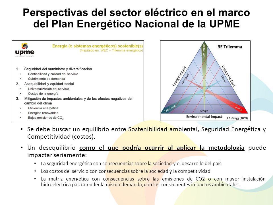 Perspectivas del sector eléctrico en el marco del Plan Energético Nacional de la UPME Se debe buscar un equilibrio entre Sostenibilidad ambiental, Seg