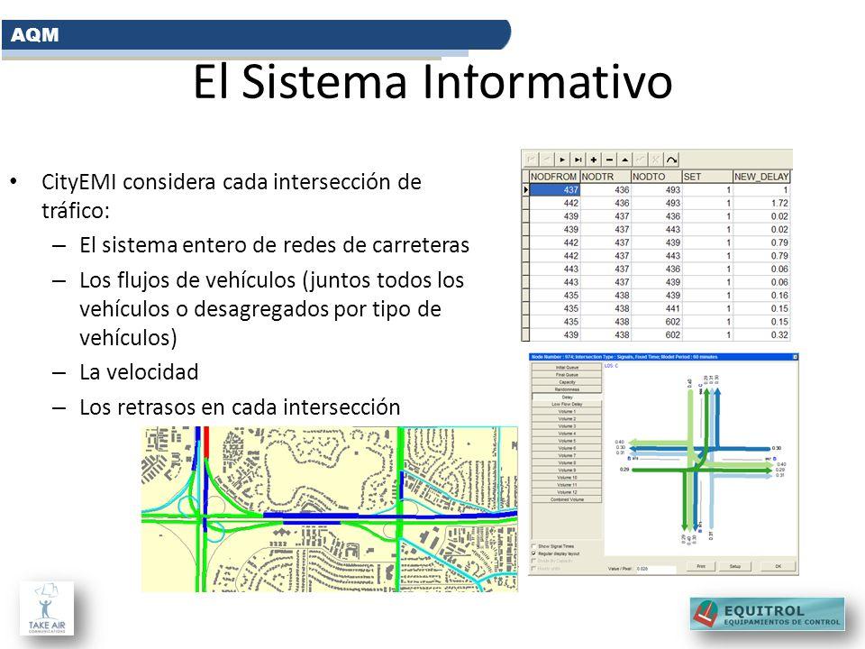 El Sistema Informativo CityEMI considera cada intersección de tráfico: – El sistema entero de redes de carreteras – Los flujos de vehículos (juntos to
