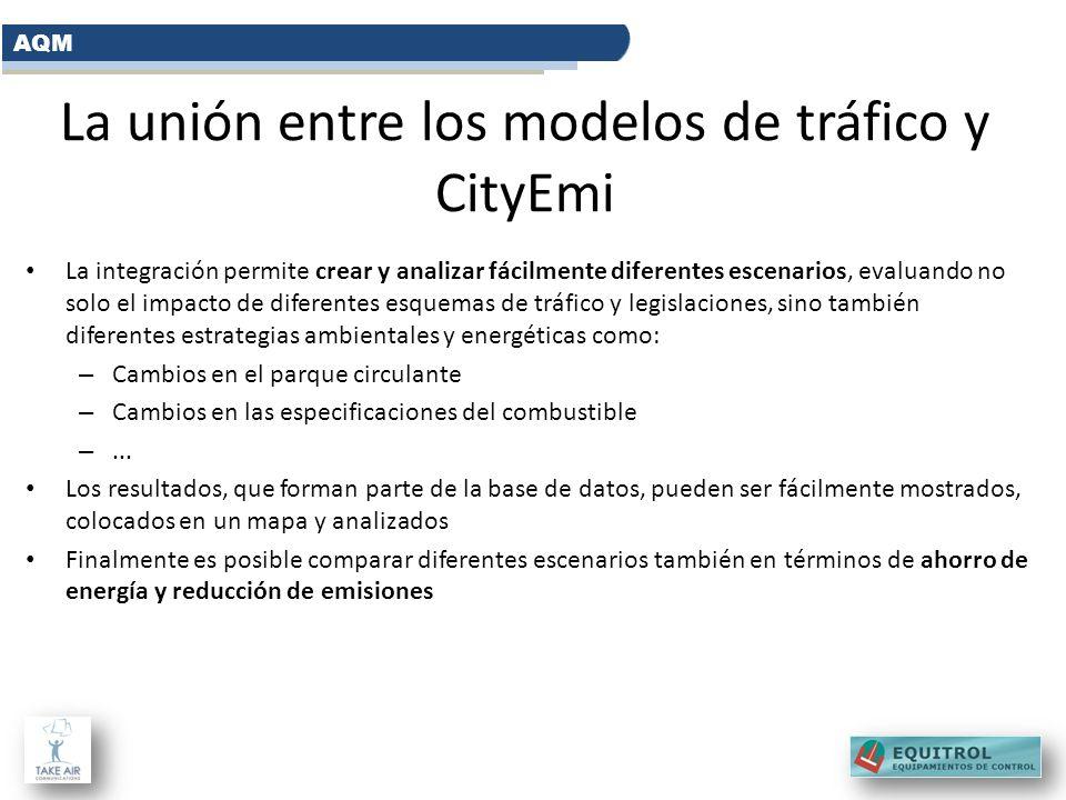 La unión entre los modelos de tráfico y CityEmi La integración permite crear y analizar fácilmente diferentes escenarios, evaluando no solo el impacto