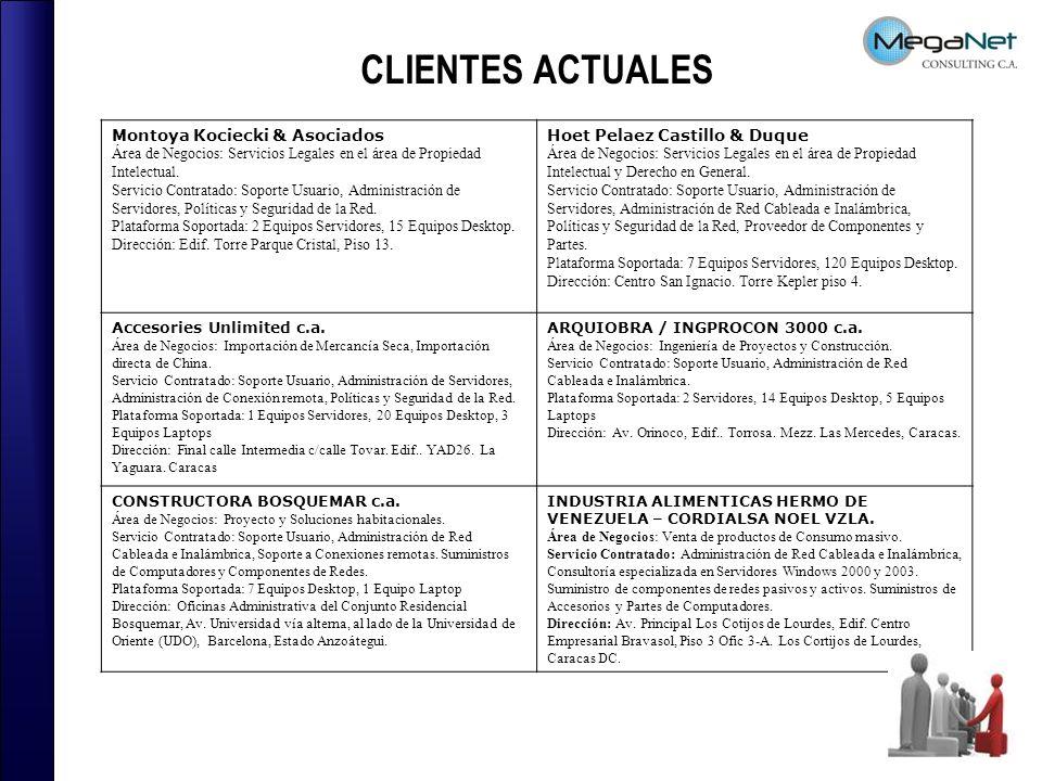 CLIENTES ACTUALES CONSORCIO SIMON RODRIGUEZ c.a.