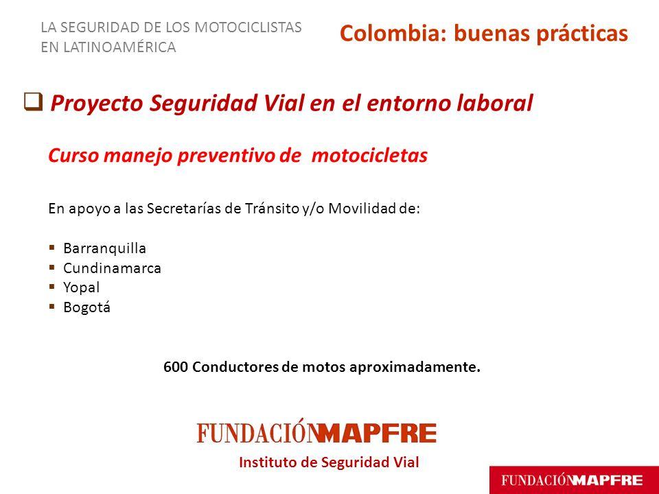 Instituto de Seguridad Vial Proyecto Seguridad Vial en el entorno laboral Curso manejo preventivo de motocicletas En apoyo a las Secretarías de Tránsi
