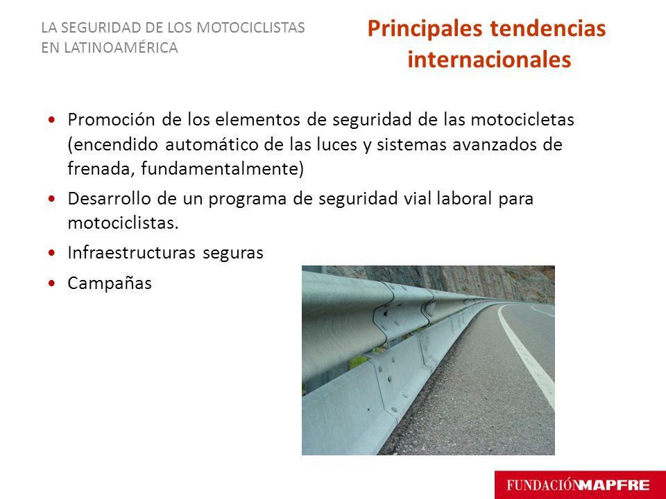 Promoción de los elementos de seguridad de las motocicletas (encendido automático de las luces y sistemas avanzados de frenada, fundamentalmente) Desa