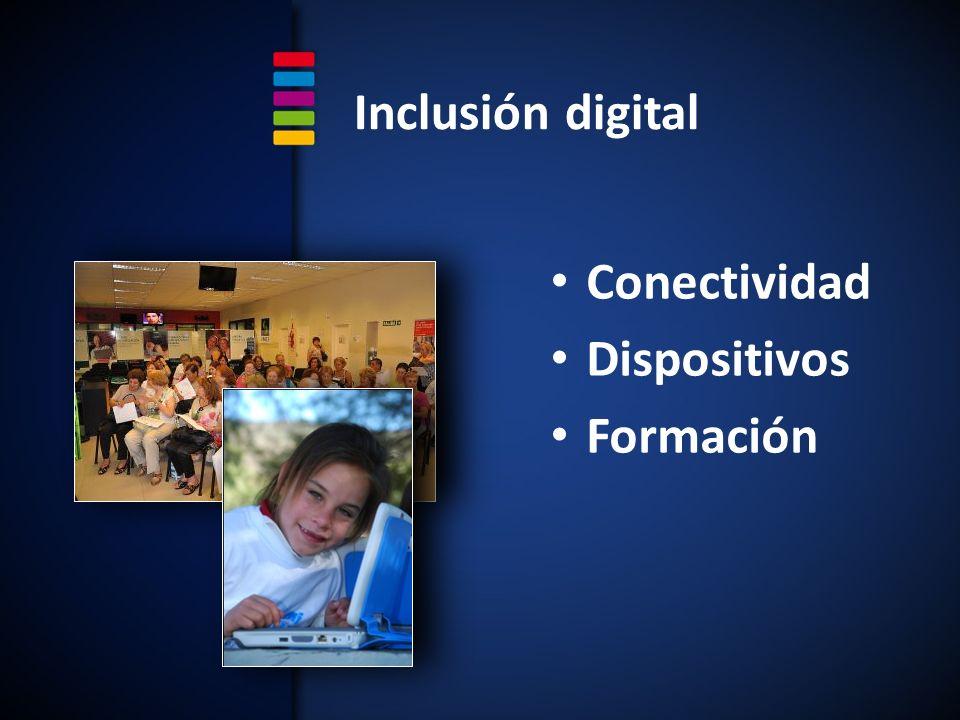Inclusión digital Conectividad Dispositivos Formación