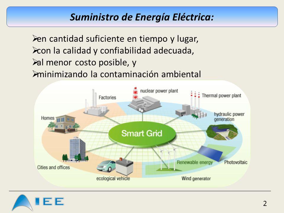 3 Red Eléctrica Inteligente: (según European Smart Grid Task Force) Integra eficientemente el comportamiento y las acciones de todos los agentes conectados – generadores, consumidores y generadores- consumidores – para asegurar la eficiencia económica, un SSEE sostenible, con bajas perdidas, alta calidad y seguridad en el suministro