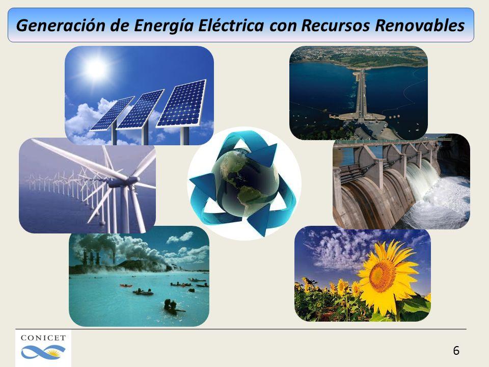 6 Generación de Energía Eléctrica con Recursos Renovables