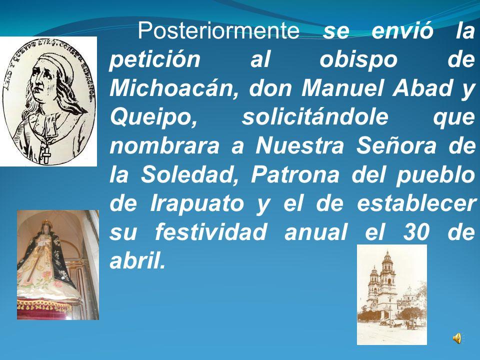 Para ejecutarlo canónicamente debe concurrir el voto del clero y pueblo, según ordena Su Santidad del Señor Urbano VIII dándose después cuenta al ilustrísimo Señor Obispo de Michoacán para que confirme...
