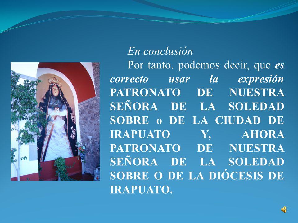 Hay una serie llamada Patronato en la que aparece alguna documentación sobre lo que rodeó la declaración de María de Guadalupe como patrona de Nueva España en 1747, pero anterior a ella hay dos expedientes referentes al pueblo de Zimapán, que hizo lo mismo en 1737.