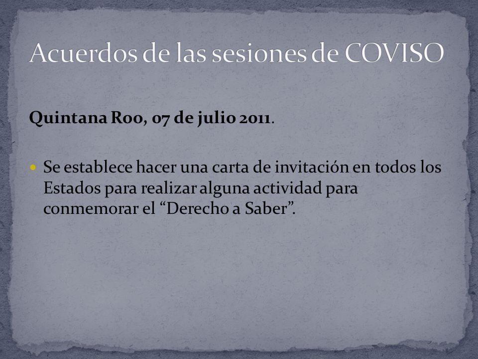 Quintana Roo, 07 de julio 2011.