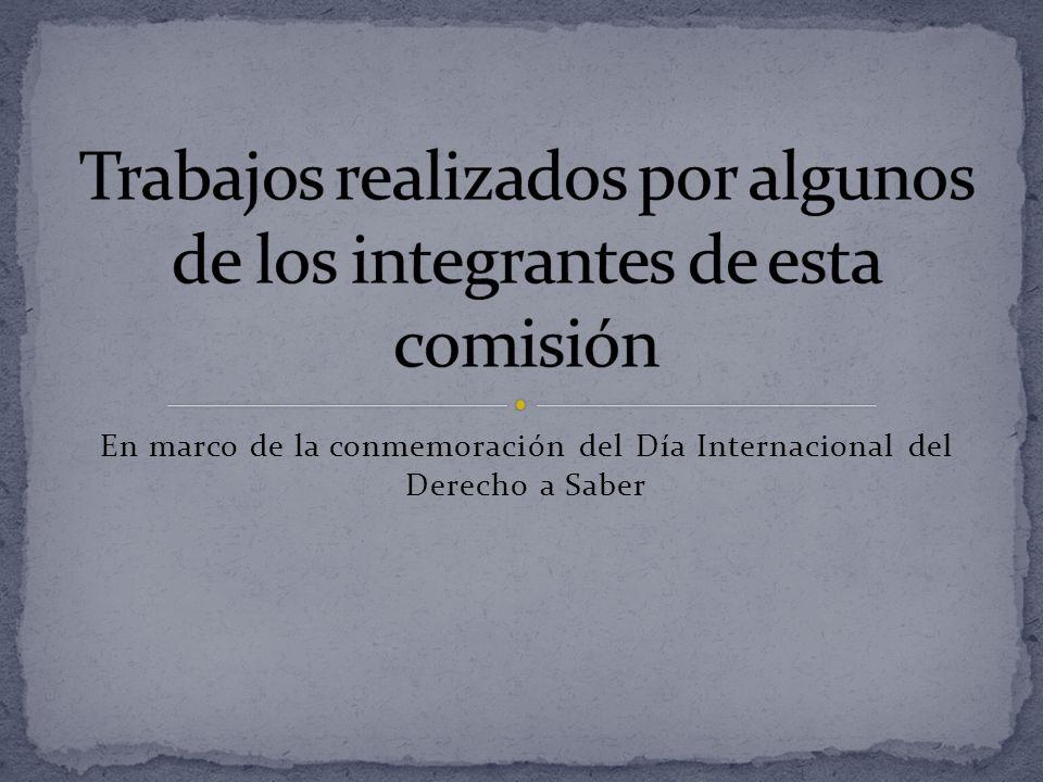 En marco de la conmemoración del Día Internacional del Derecho a Saber