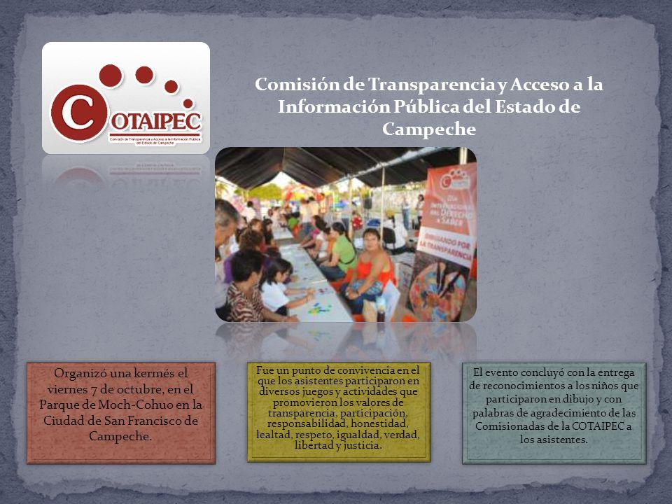 Comisión de Transparencia y Acceso a la Información Pública del Estado de Campeche Organizó una kermés el viernes 7 de octubre, en el Parque de Moch-Cohuo en la Ciudad de San Francisco de Campeche.