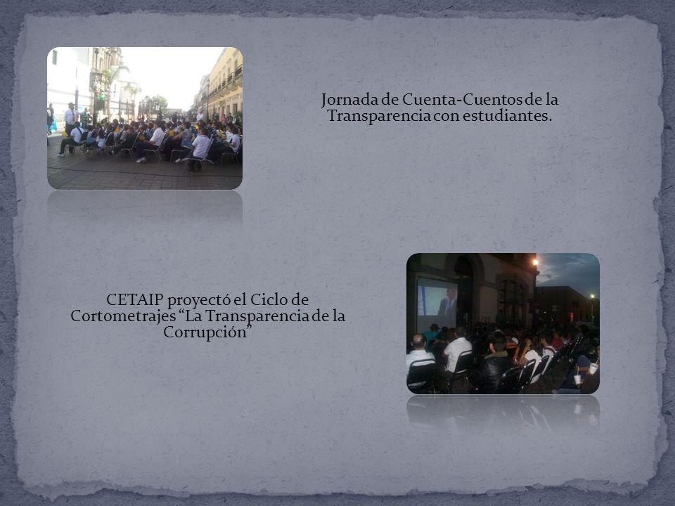 Jornada de Cuenta-Cuentos de la Transparencia con estudiantes.