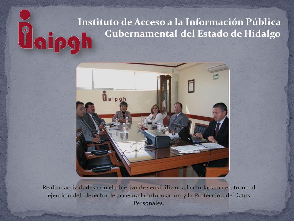 Instituto de Acceso a la Información Pública Gubernamental del Estado de Hidalgo Realizó actividades con el objetivo de sensibilizar a la ciudadanía en torno al ejercicio del derecho de acceso a la información y la Protección de Datos Personales.