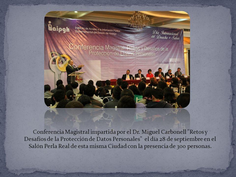 Conferencia Magistral impartida por el Dr.