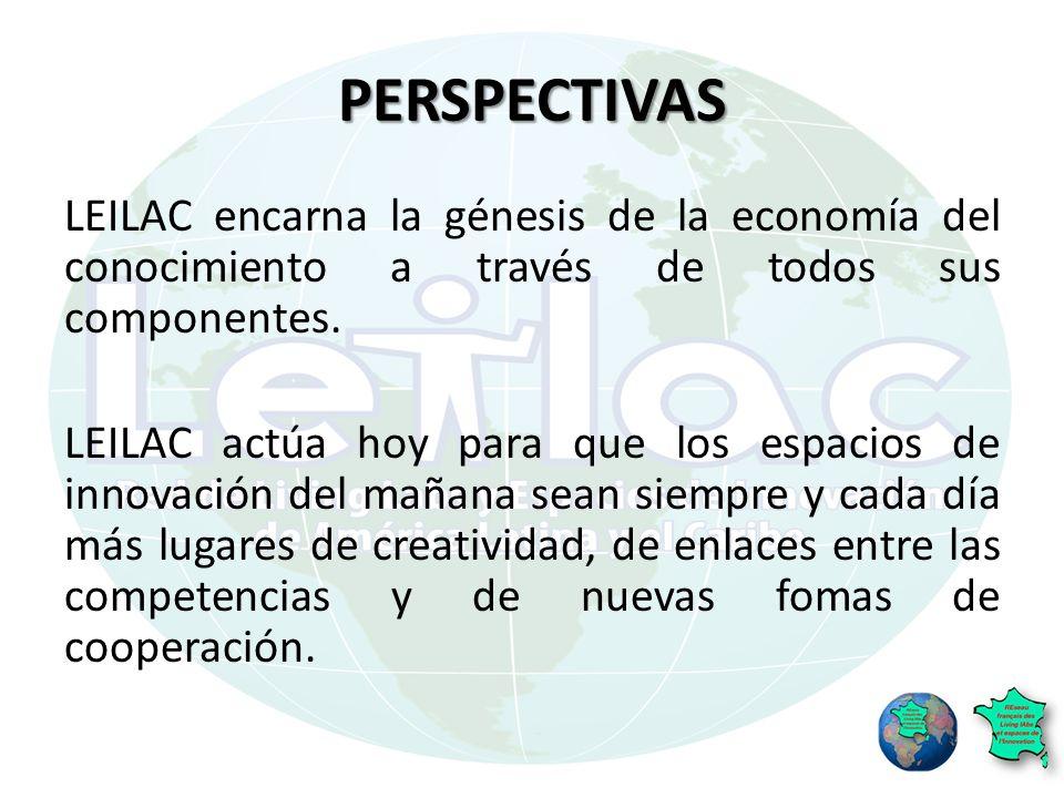 PERSPECTIVAS LEILAC encarna la génesis de la economía del conocimiento a través de todos sus componentes.