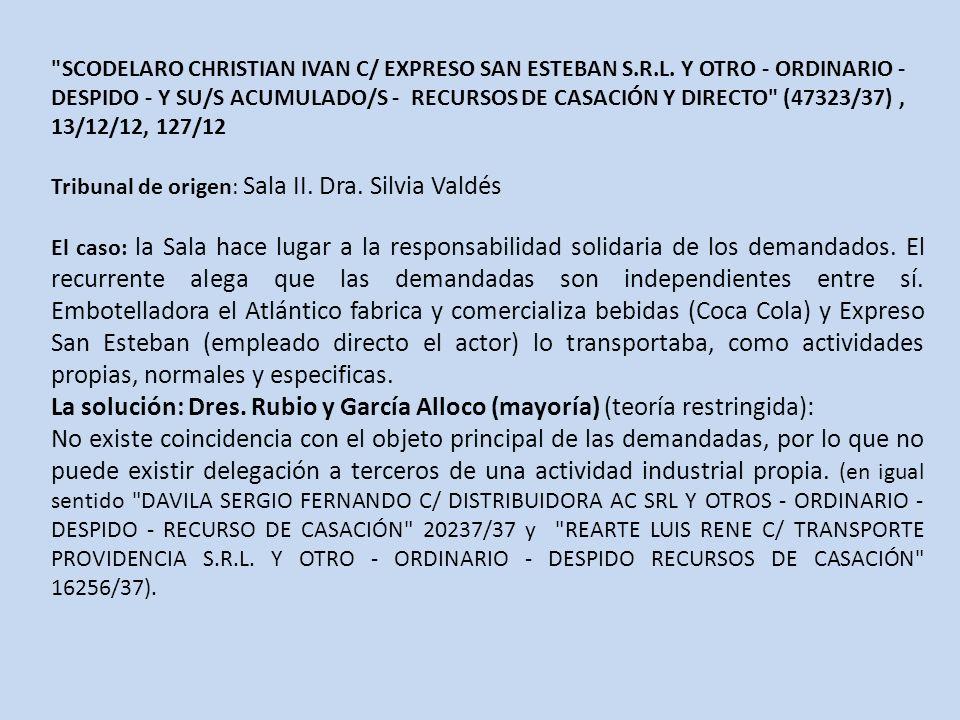 SCODELARO CHRISTIAN IVAN C/ EXPRESO SAN ESTEBAN S.R.L.