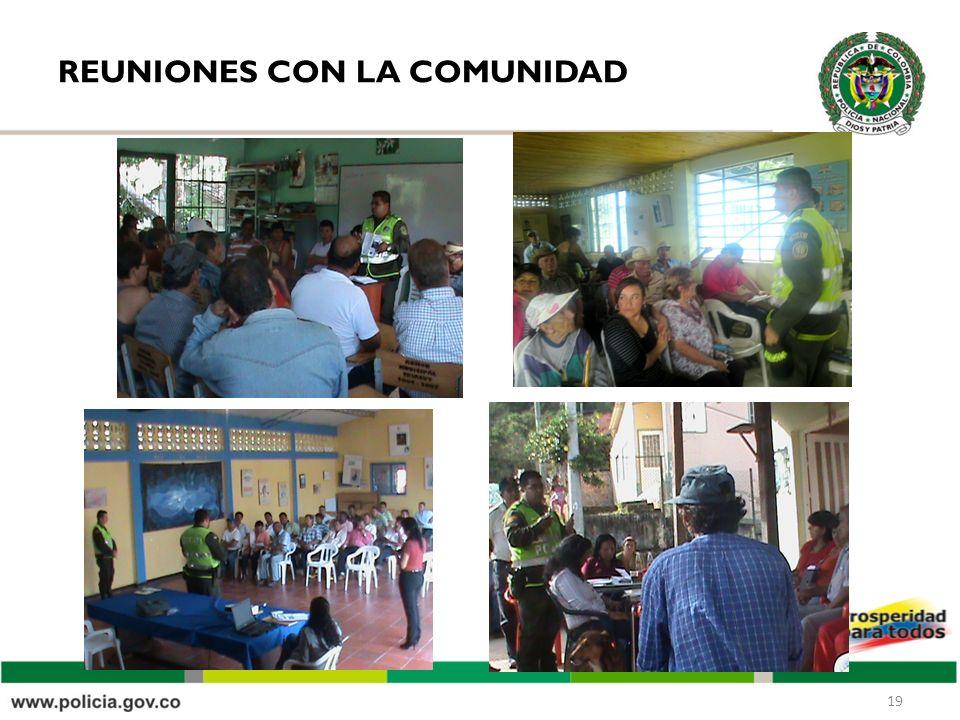 REUNIONES CON LA COMUNIDAD 19