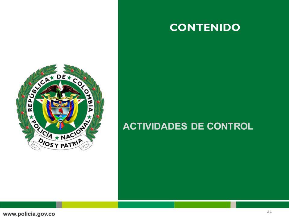 CONTENIDO ACTIVIDADES DE CONTROL 21