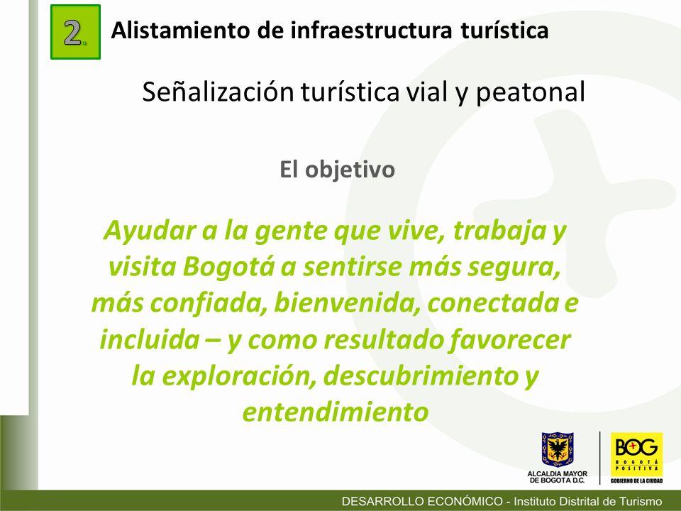 El objetivo Ayudar a la gente que vive, trabaja y visita Bogotá a sentirse más segura, más confiada, bienvenida, conectada e incluida – y como resulta