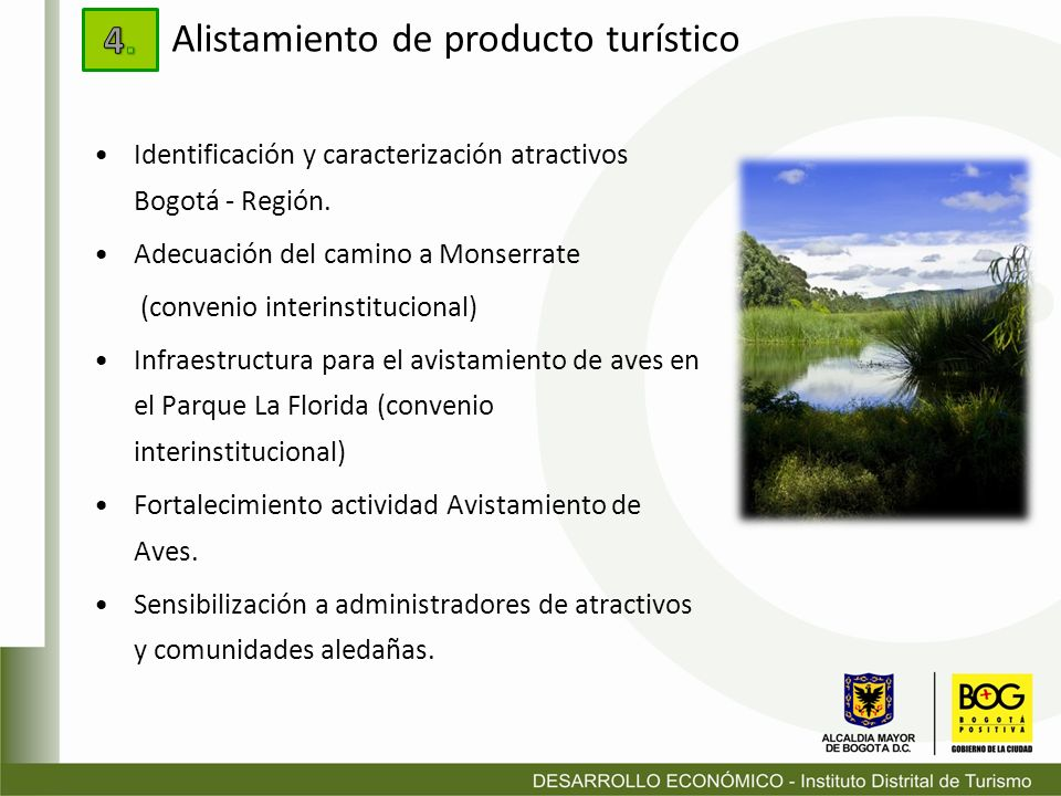 Identificación y caracterización atractivos Bogotá - Región. Adecuación del camino a Monserrate (convenio interinstitucional) Infraestructura para el
