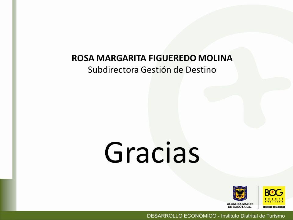 Gracias ROSA MARGARITA FIGUEREDO MOLINA Subdirectora Gestión de Destino